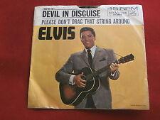 ELVIS PRESLEY~DEVIL IN DISGUISE~PLEASE DON'T DRAG THAT STRING AROUND~~ POP 45