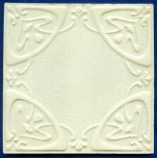 Jugendstil Fliese Kachel Relief, Art Nouveau Tile, Tegel, Boch Freres, Ornament
