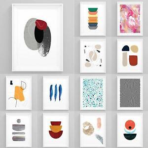 Modern Wall Art Framed Abstract Prints Scandinavian Poster Nordic Design Décor