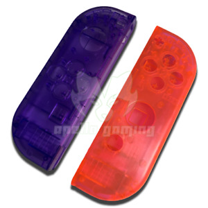 Replacement Joycon Shells Plastic Clear Transparent Housings for Nintendo Switch