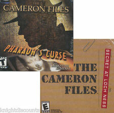 The Cameron Files 2 Pack - Secret Loch Ness + Pharoes Curse PC 4X CDs Game NEW!