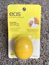 Eos Visibly Soft Lip Balm Sphere Lemon Drop spf 15. .25oz