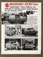 1976 Suzuki ST10 Van original Australian sales brochure