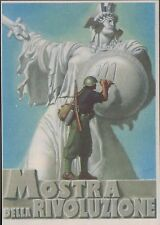Cartolina militare, Mostra della Rivoluzione, Boccasile, non viaggiata.
