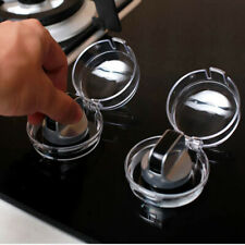 4Pcs Child Proof Clear Stove Knob Safety Cover Baby Kitchen Safety Guard Covers