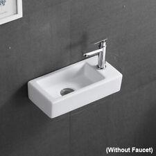 Bathroom Porcelain Ceramic Vessel Sink Home Vanity Basin Popup Drain Square