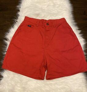 Vintage Lee ULTRA HIGH Waist Rise Denim 90's Mom Jean Shorts Red Size 10 P
