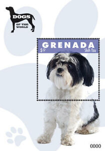 Grenada 2012 - Dogs of the World, Shih Tzu, Animal, Pet - Souvenir Sheet - MNH