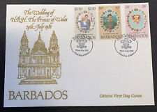 1981 Barbados Royal Wedding HRH Prince Charles & Lady Diana FDC