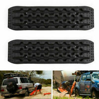 2X Recovery Traction Sand Tracks Snow Mud Track Tire Ladder 4WD Off Road Black