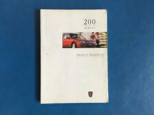 Rover 200 Owners Handbook