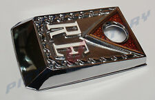 RE BOOT LOCK SURROUND Chrome New, Rotary Mazda RX3 RX-3 10A 13B 12A BOOTLOCK