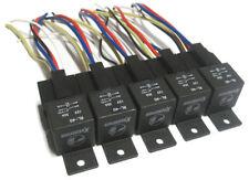 (10 Pc) 12 Volt 40 Amp Bosch Style Relays & Sockets Car Wiring SPDT Relay 40a