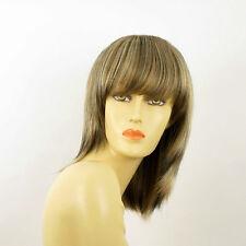 Perruque femme mi-longue méchée blond clair méché cuivré chocolat FANIE 15613H4