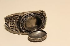 ANTIQUE MADE FOR RUSSIA IMPERIAL MARKET UNIQUE BIG SOLID SILVER 800 BRACELET