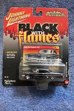 JOHNNY LIGHTNING BLACK WITH FLAMES 1963 FORD GALAXIE 500 DIE CAST CAR SCALE 1/64