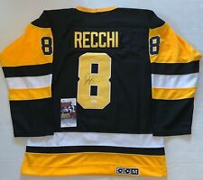 Mark Recchi signed Pittsburgh Penguins jersey autographed Pens HOF JSA
