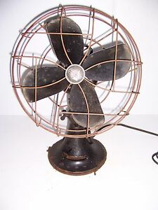 "VINTAGE EMERSON ELECTRIC 12"" OSCILLATING FAN TYPE 79646AQ WORKS!"