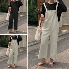 Women Harem Strappy Pants Playsuit Jumpsuit Dungarees Loose Casual Overalls Plus