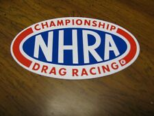"""ORIGINAL NHRA OVAL DECAL  LARGER 6"""" X 3 1/4""""  WITH SPORT SERVICE STAMP"""