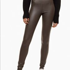 "Wilfred Free S 26/27 32""In Daria Vegan Faux Leather Legging Dark Brown High Rise"