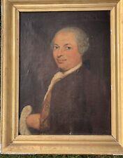 Ecole Française 18ème Portrait De Gentilhomme Huile Sur Toile XVIIIÈME