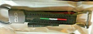 500 FIAT ITALIA  Keyring Luxury Leather Loop Key ring I keyring