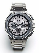 Meister AM148SS Ambassador MSTR Titanium Grey Stainless Steel Wrist Watch NIB