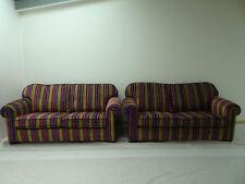 Immaculate pair of Duresta Waldorf Grande sofa's in Velluto stripe fabric