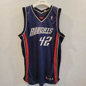 RareVintage Adidas Authentic NBA Jersey Charlotte Bobcats Sean May sz 52 Signed