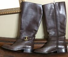 RALPH LAUREN Micah Riding Boots ~ Sz 6B ~ Brown Leather ~ Zip ~ Gently used