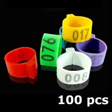 Poultry ID Leg Ring numbered 1-100, Chicken, Bands, Poultry, Leg Rings