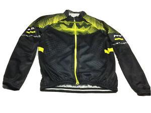 Northwave Winter Tech Cycling Jersey Long Sleeve Fleece Lined Full Zip Size XL
