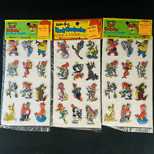 Woody Woodpecker 1978 Walter Lantz Puffy Stickers Imperial Toy Corporation lot 3
