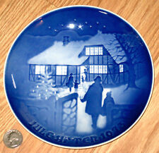 BING & GRONDAHL 1973 plate Jule Aften Jul på landet Country Christmas