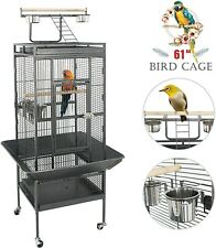 61'' Large Bird Cage with Rolling Stand Parrot Chinchilla Finch Cage