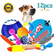 Dog Rope Toys Teething Chew Puppy 12 pc Kit Set Squeaky Plush Ropes Free SH