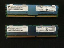 8GB Crucial / Micron DDR2 667MHz PC2-5300F Fully Buffered Server RAM 2x4GB