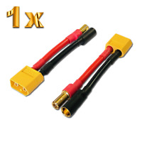 1 Adapter XT60 Stecker Male auf 5,5 5.5mm Stecker Goldstecker Lipo Akku Kabel