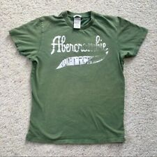Vintage 90s Abercrombie & Fitch T Shirt Size Small Mens Green