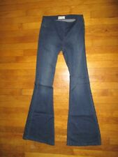 FREE PEOPLE sz 26 low rise medium wash wide bell jeggings/jeans