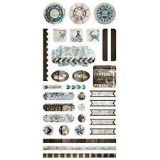 7 Dots Studio: Destination Unknown Paper - Element Stickers 6x12