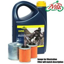 GS 500 E-K7 GM51A 2007 Putoline DX 4 10w40 and Premium Oil Filter