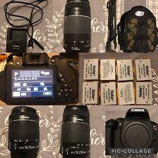 Mint Canon Eos Rebel T5i 18Mp Slr Digital Camera Bundle (3 Lenses)