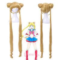Aino Minako Sailor Moon Yellow 130cm Long Straight Hairs Cosplay Wigs+Wig Cap