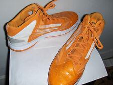 Men's basketball shoes ADIDAS Adizero orange white sneaker Size 20 msrp $165.
