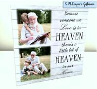 PERSONALISED PHOTO BEREAVEMENT large freestanding plaque block remembrance loved