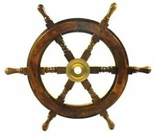 """18"""" Ship Wheel Wooden Pirate Boat Nautical Fishing by Redskytrader SH8762"""