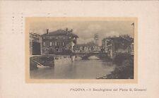 PADOVA - Il Bacchiglione dal Ponte S.Giovanni 1921