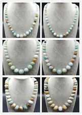 6 Style Natural Amazonite Gemstone Beads Handmade Necklace 18''